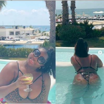 Dorathy shows off bikini body
