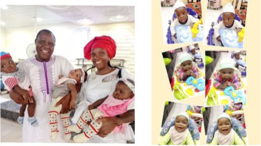 The man welcomed triplets with wife after 15 years of waiting