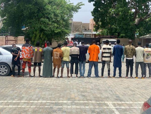 The fraudsters arrested in Katsina