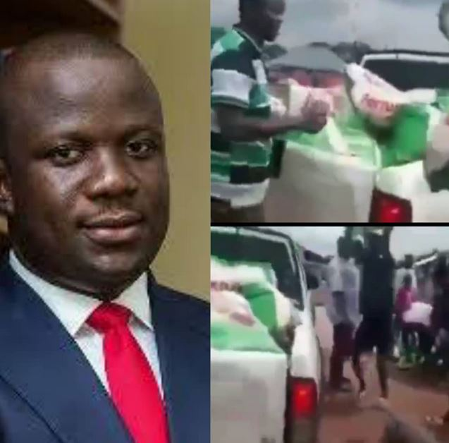 Ghanaian Youths Reject Free Bags Of Rice Sent To Them By Lawmaker, Demand Job Creation (Video)