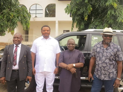 Governor Ayade Gifts Toyota Land Cruiser SUVs To Reps Who Decamped To APC (Photos)
