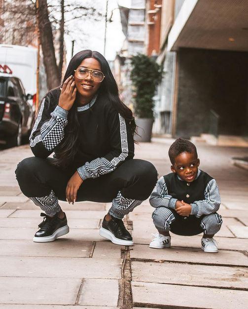 Tiwa and son