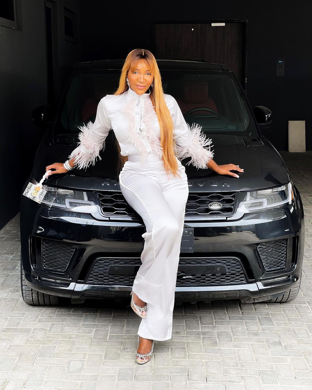 Aisien shows off the amazing car she got as birthday gift
