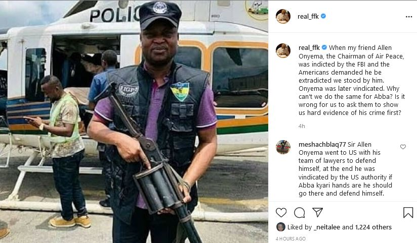 """post  """"When Allen Onyema Was Indicted By FBI, We Stood By Him And He Was Vindicated, Why Can't We Do The Same With Kyari"""" ky6"""