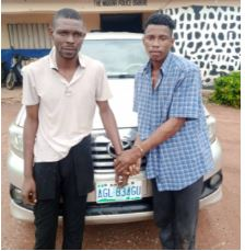 Fleeing thieves arrested with stolen car