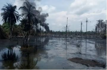 Shell facility on fire in Imo state