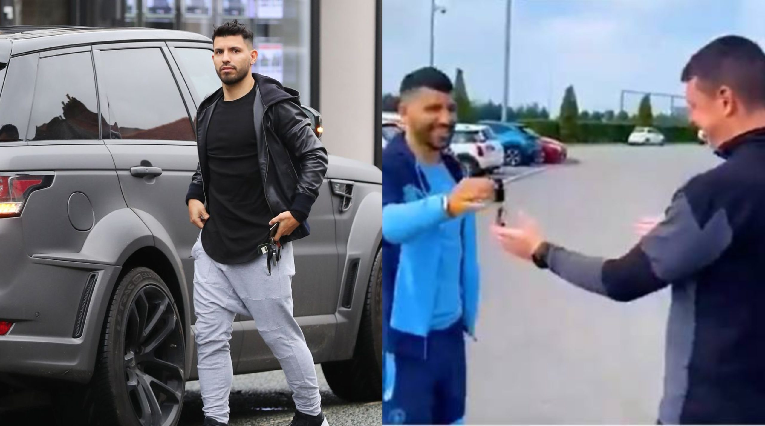 Kun Aguero gives his car away