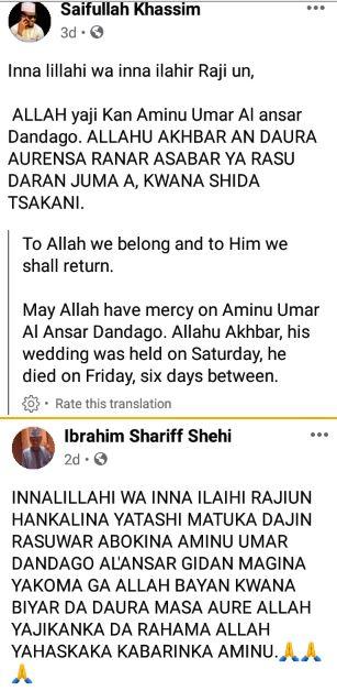 So Sad! Nigerian Man Dies Six Days After His Wedding #Arewapublisize