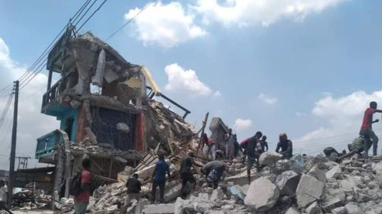 Horror As One Person Dies During Building Demolition In Port Harcourt #Arewapublisize