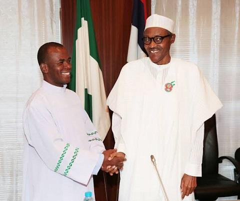 Father Ejike Mbaka and President Muhammadu Buhari