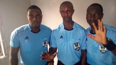 Referee and his assistants attacked in Kano
