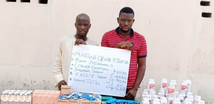 Suspects arrested for supplying drugs to bandits