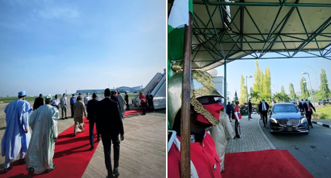 Buhari arrives Lagos to commission projects