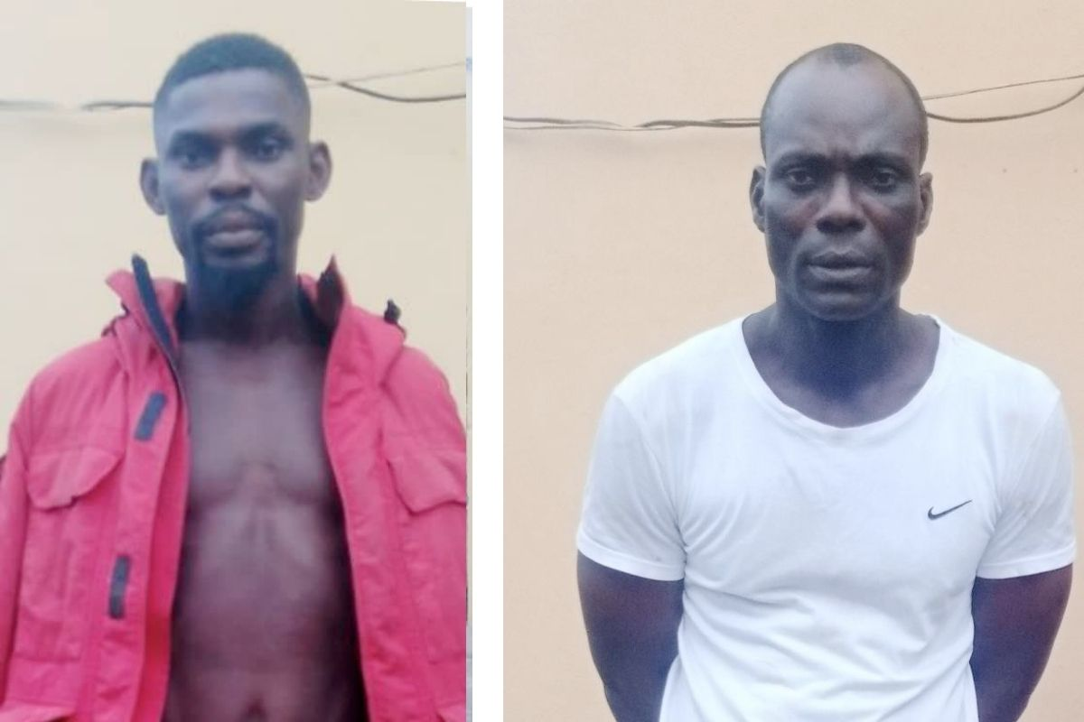 The suspects arrested by the police