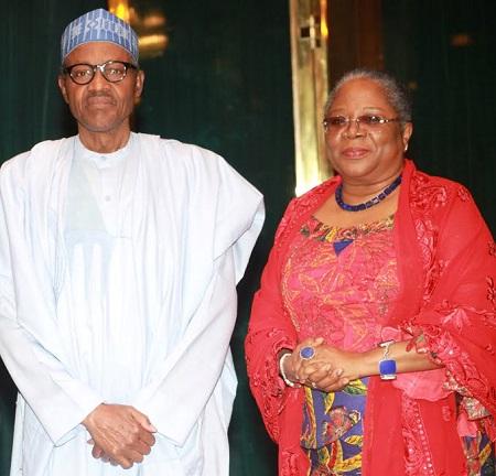 Muhammadu Buhari and Onyeka Onwenu