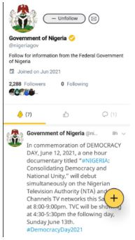 Nigerian government joins Koo