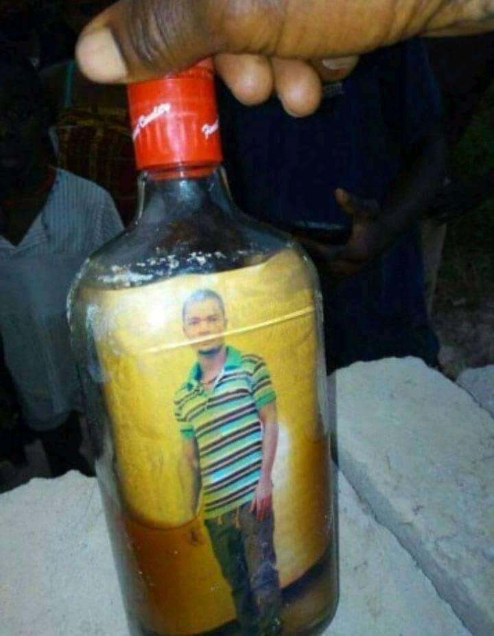 Man in bottle