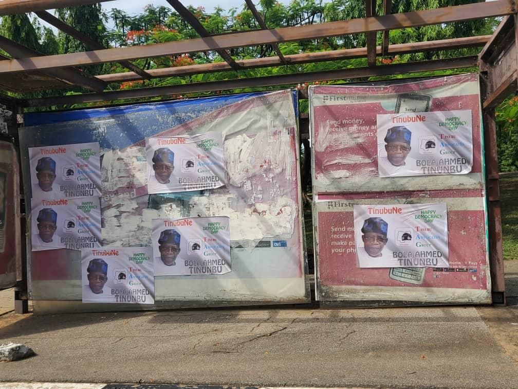 Campaign posters of Bola Tinubu spotted in Abuja