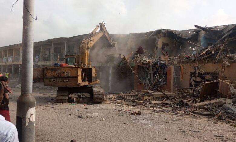 Agboju market demolished in Lagos state