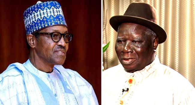 Muhammadu Buhari and Edwin Clark
