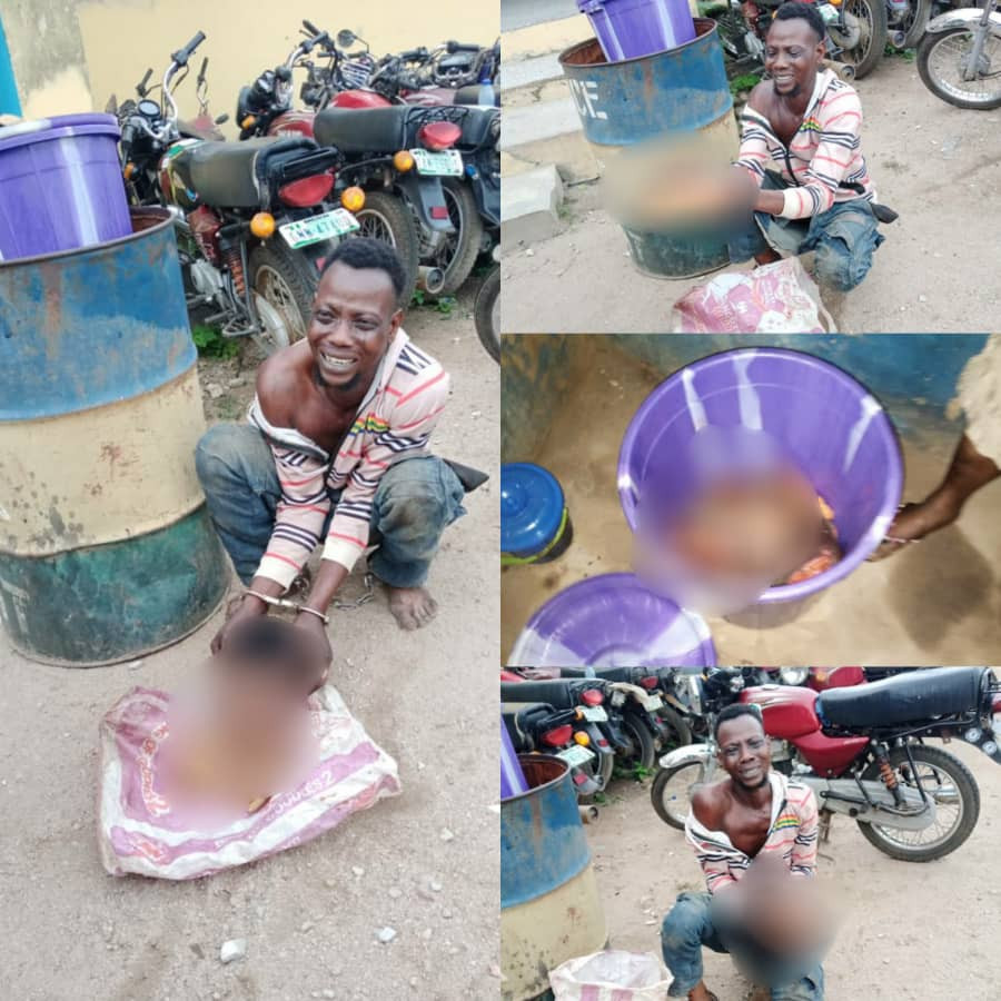 The ritualist after he was arrested