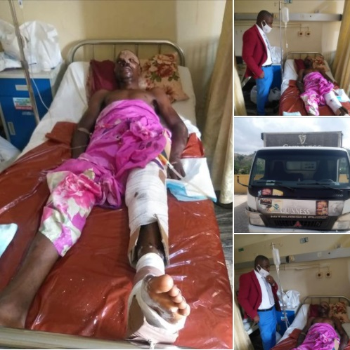 Mr Udunobun Otaigbe hit by a truck