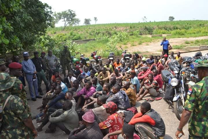 The Nasarawa youths apprehended by the army