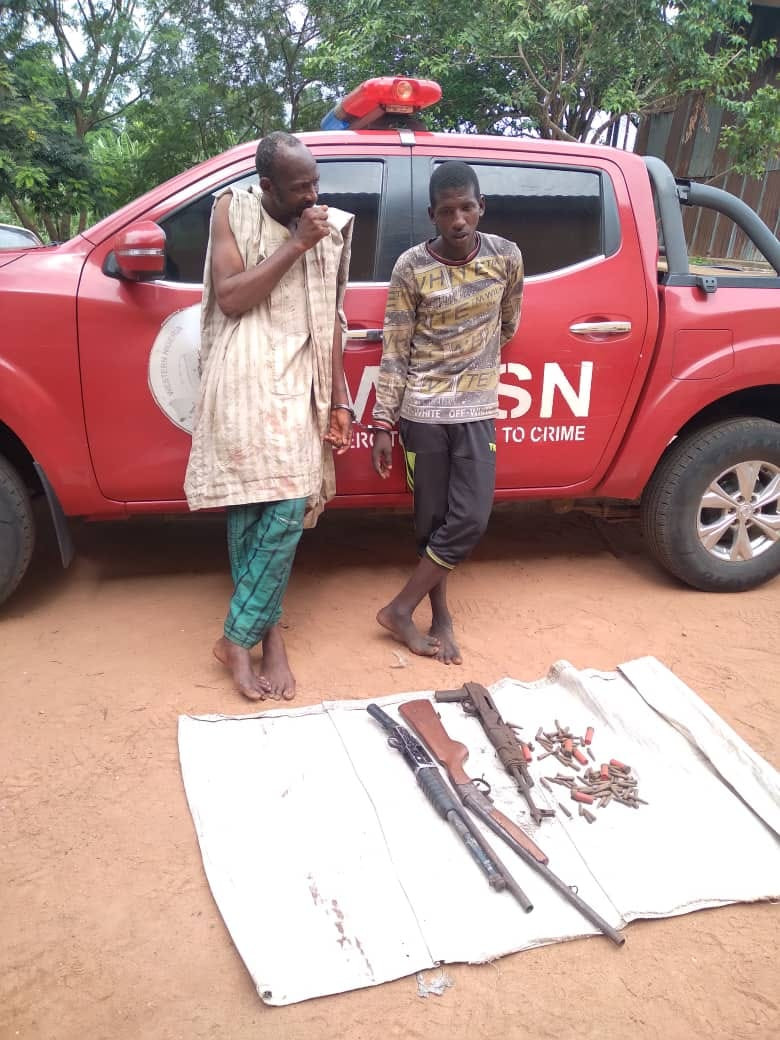 Bandits arrested in Oyo state with guns