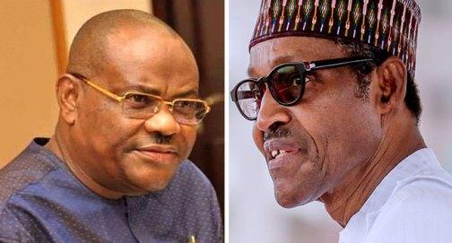 Nyesome Wike and Muhammadu Buhari
