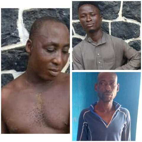 The armed robbers after they were caught