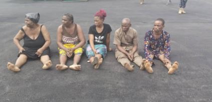 The gang of kidnappers arrested in Imo