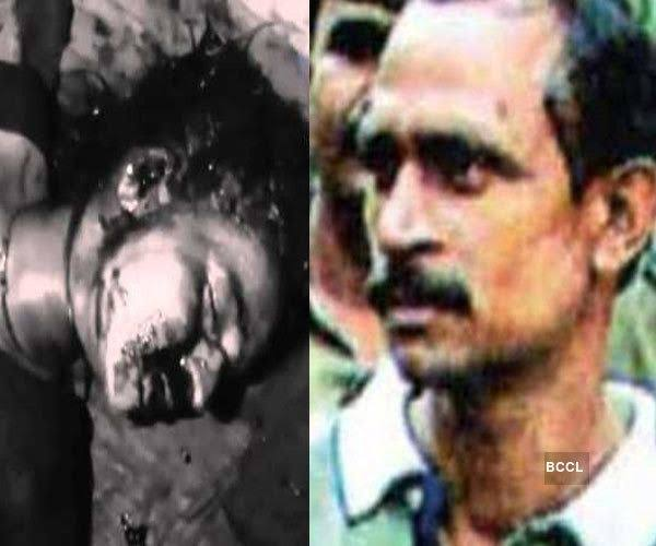The serial rapist after being hacked to death by 200 women