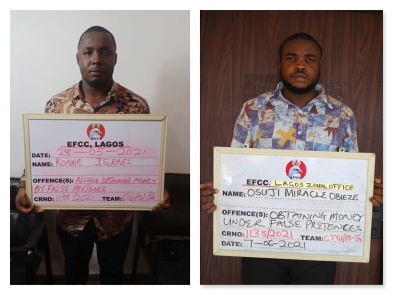 Suspected fraudsters nabbed by EFCC