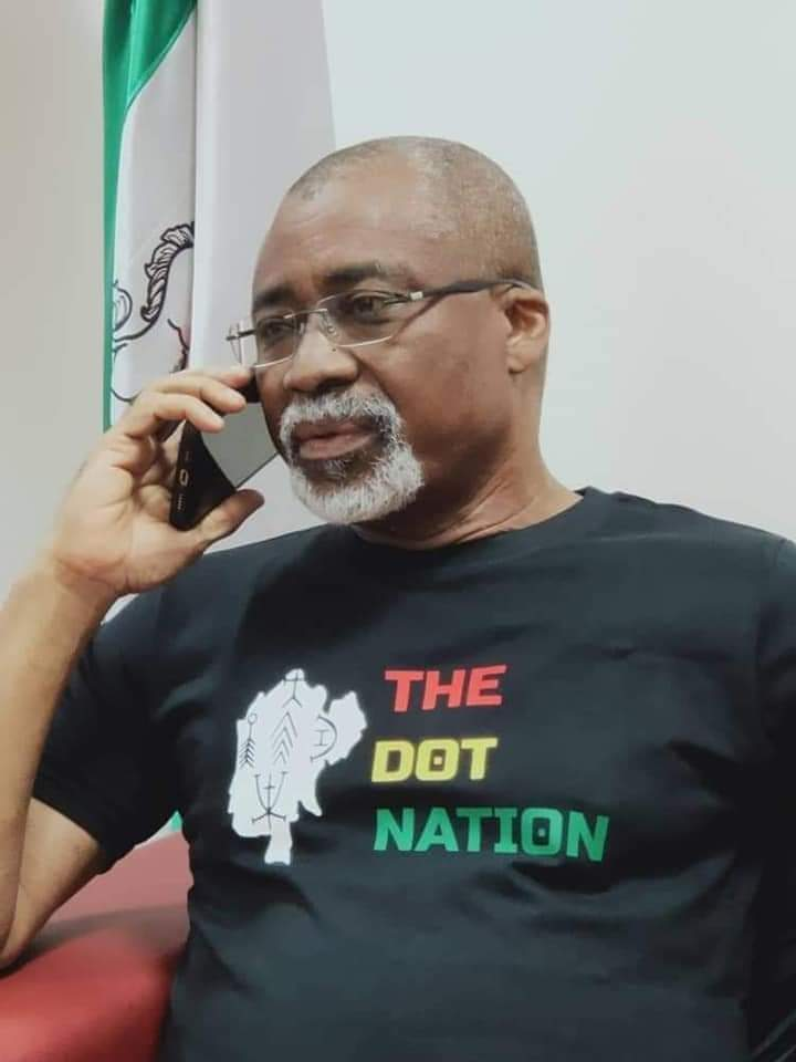 Enyinnaya Abaribe rocking 'dot nation' t-shirt
