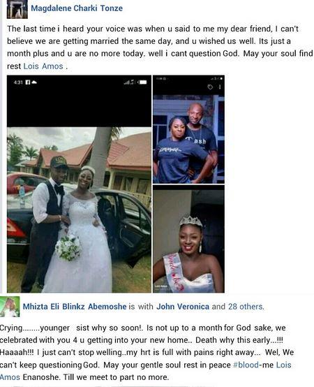 Heartbreaking! Nigerian Woman Dies Six Weeks After Her Wedding