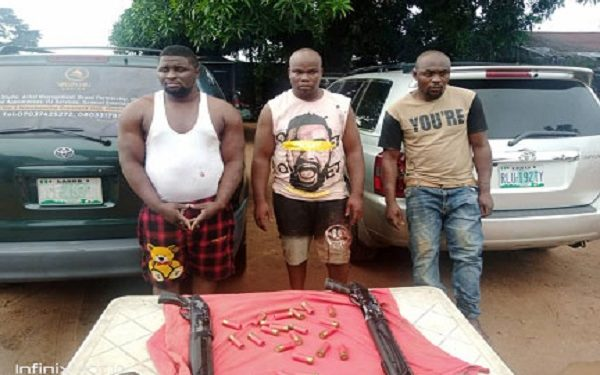 The suspected armed robbers