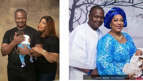 Ladunni Idowu Giwa-Osagie and husband with their child