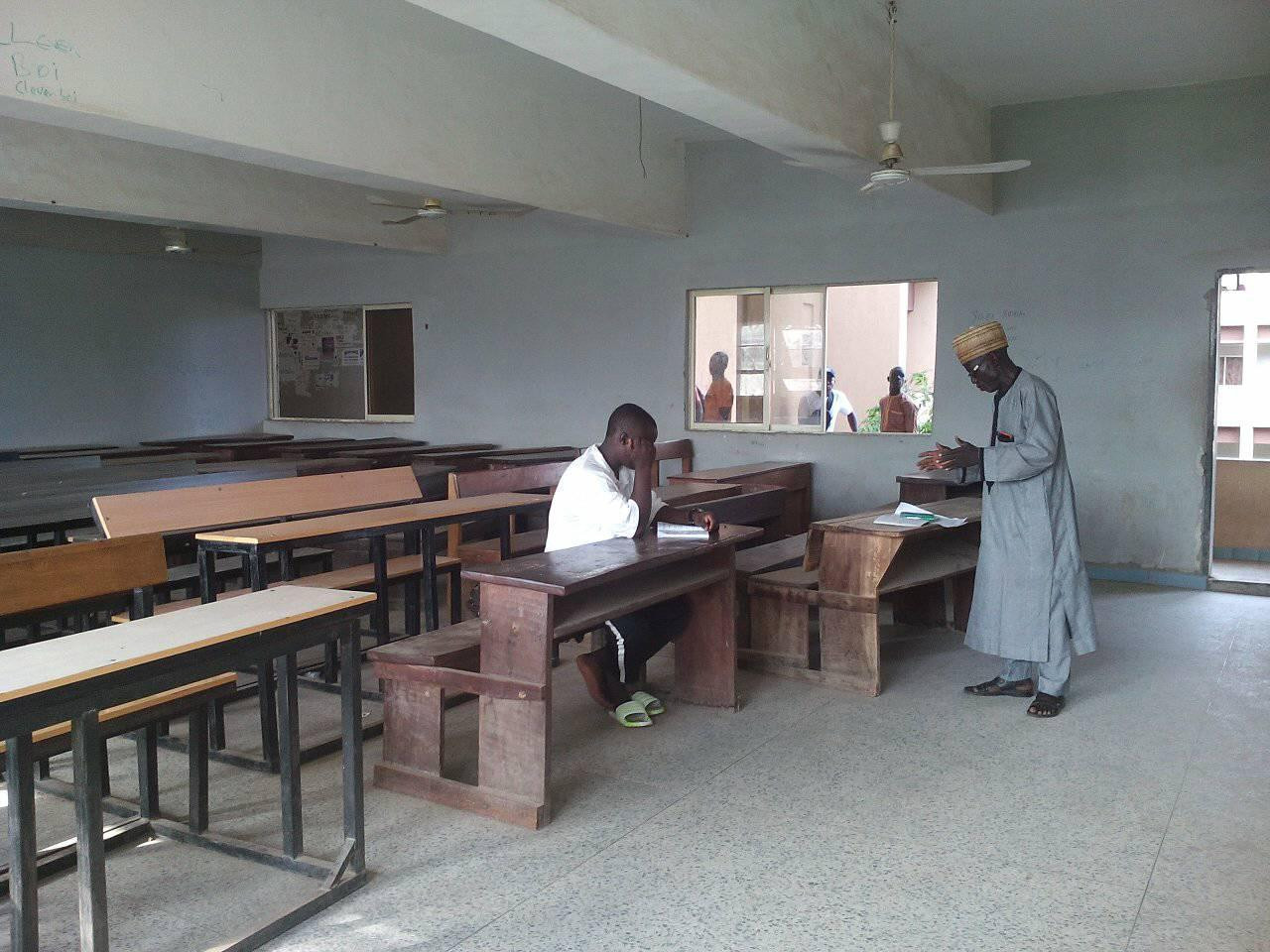 Lecturer teaching only one student at Fed Poly, Bida