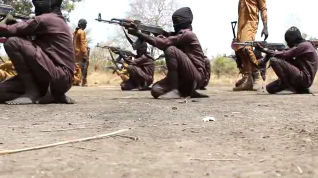 Children being trained in combat by Boko Haram terrorists