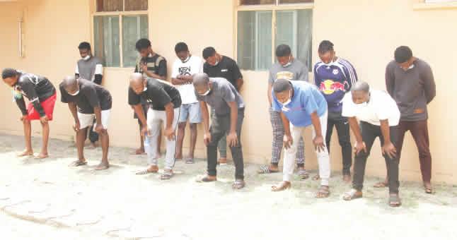 Fraudsters caught in Lagos