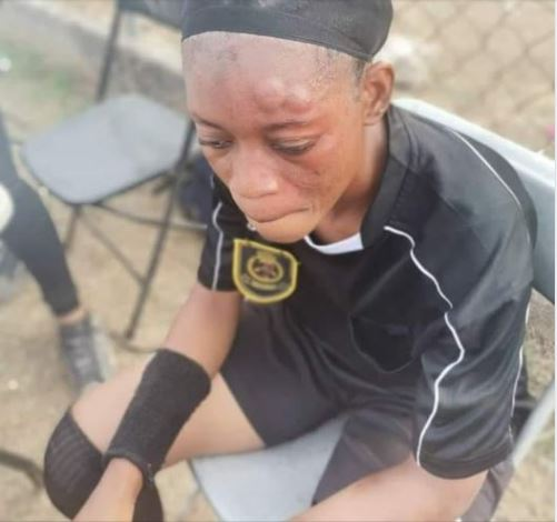 Drama As Female Footballer Beats Up Referee During Match