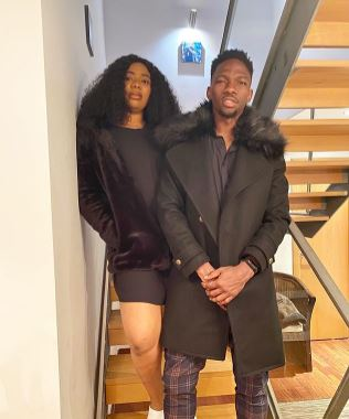 Kenneth Omeruo and wife, Chioma