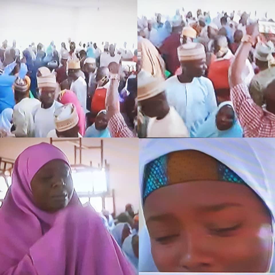 Jangebe schoolgirls and parents reunite