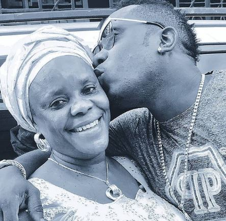 Duncan Mighty and his mother