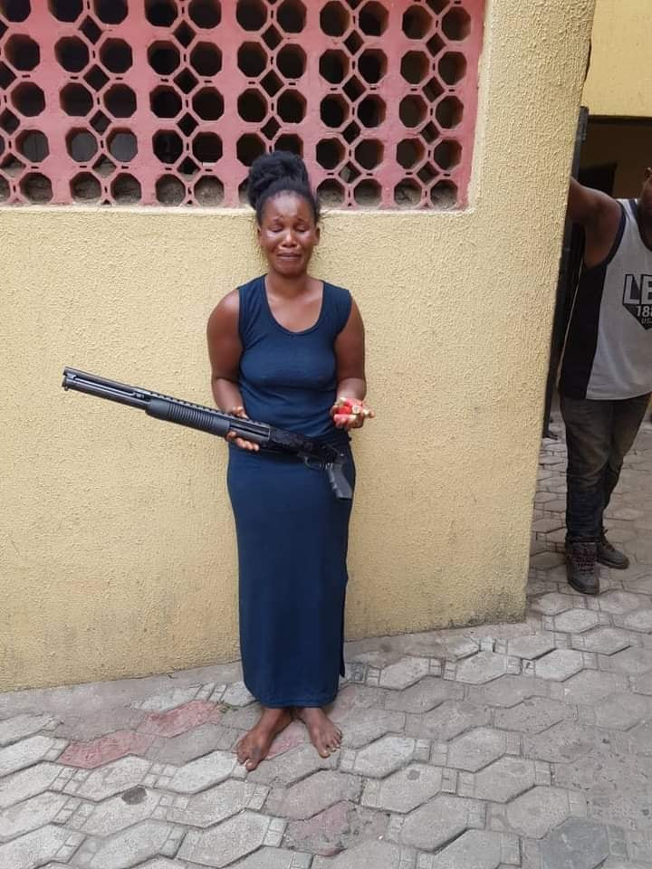 Wives of criminals caught with dangerous weapons