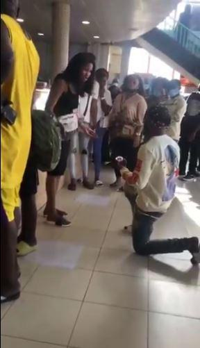 Man cries after being turned down