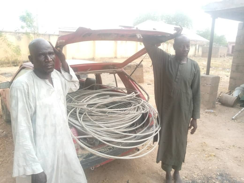 Two Electricity Staff Exposed And Arrested After Vandalizing And Stealing Power Cables In Adamawa