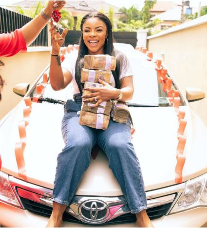 Laura Ikeji gets cash and car gifts