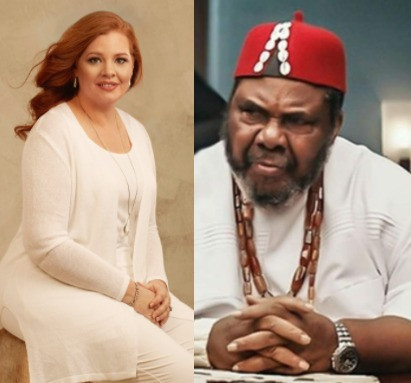 Laurie Idahosa and Pete Edochie