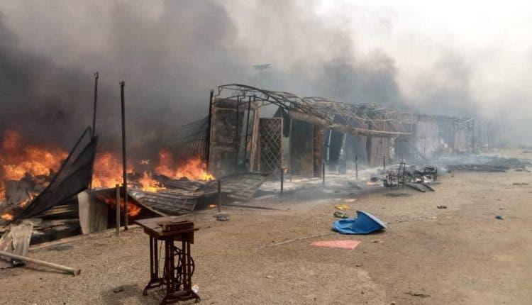 Fire incident in Katsina state